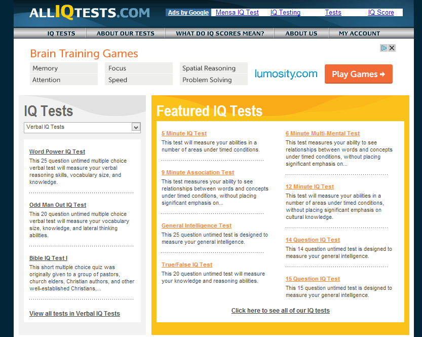 intelligence quotient test report Intelligence tests (iq tests) are designed to give an intelligence quotient derived from a set of standardized test scores iq tests: intelligence tests come in many forms, and some tests use a single type of item or question.