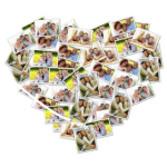 Love Shaped Photo Collage