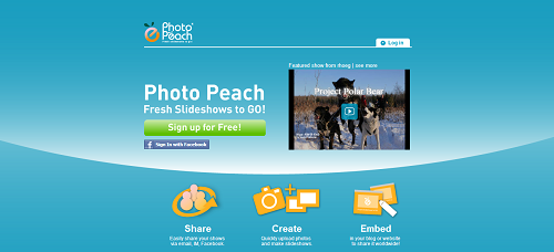 3 quick steps are required to make a slideshow instantly with photopeach upload arrange your images choose title music and share your show or embed