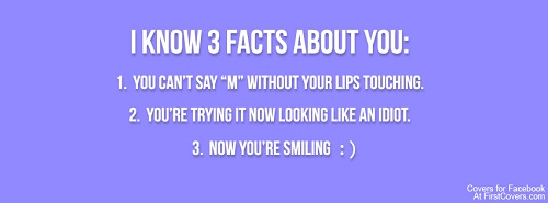 Three Facts About You