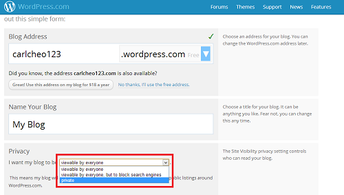 Create a Private Blog on WordPress