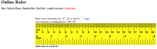 picture relating to Printable Ruler Millimeters known as 7 On-line Rulers Inside of Metric And Inches