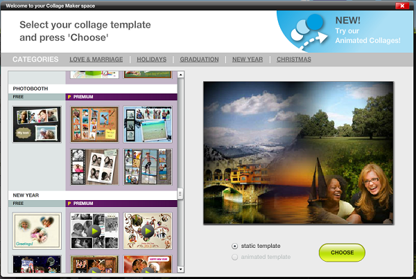 Choose A Collage Template
