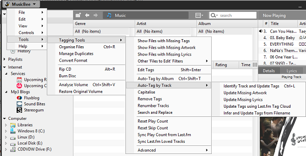 Advanced Organizing Features