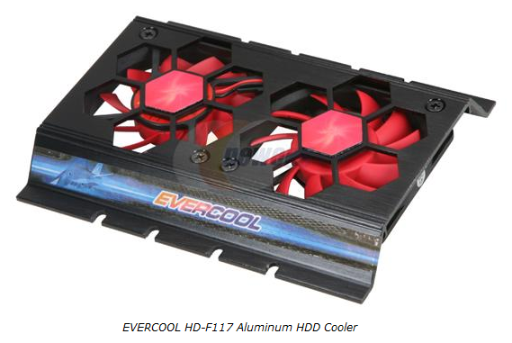 EVERCOOL Aluminum HDD Cooling Device
