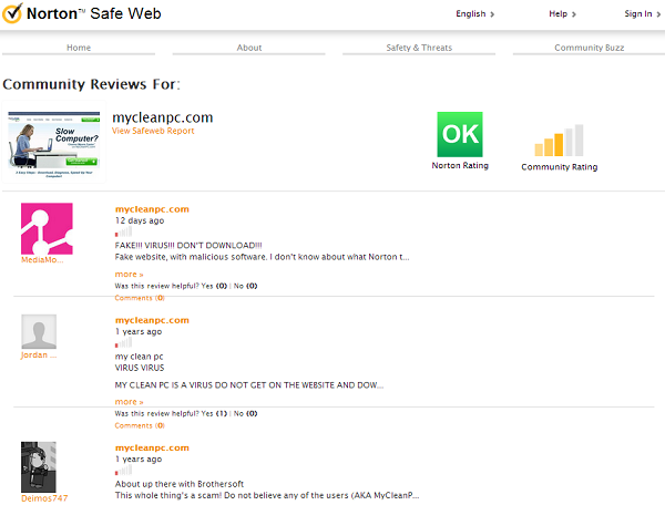Norton Safe Web Community Reviews