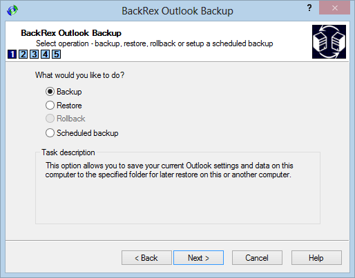 BackRex Outlook Backup