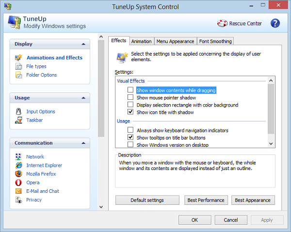 TuneUp System Control
