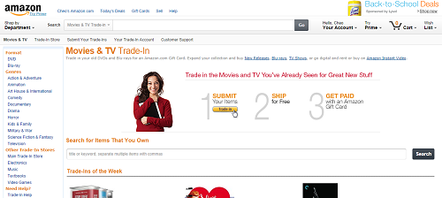Amazon Movies & TV Trade-In