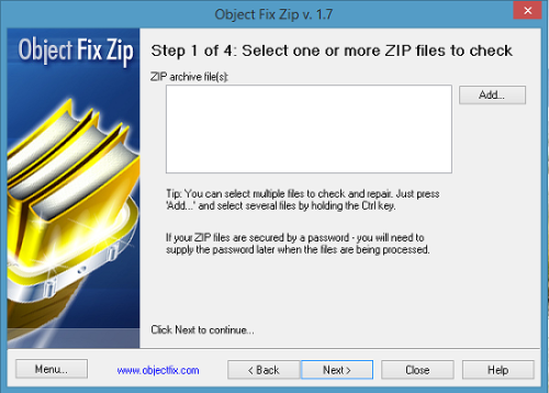Object Fix Zip