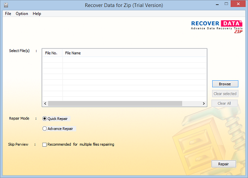 Recover Data for Zip