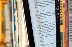 EBook between paper books