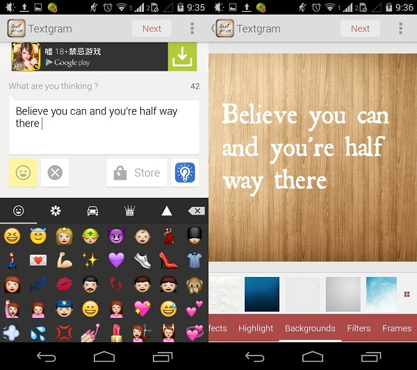 Image of: Poster Details For Android 21 And Higher Free With Inapp Purchases Quotefancy 10 Apps To Make Gorgeous Instagram Quotes