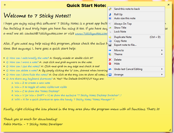 Windows and android free downloads: sticky notes gadget windows 8.