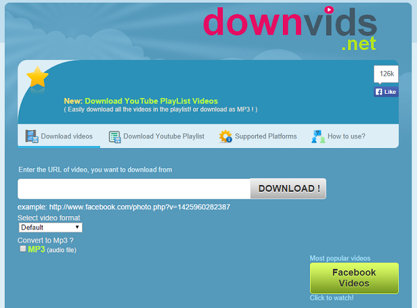 top facebook video downloader