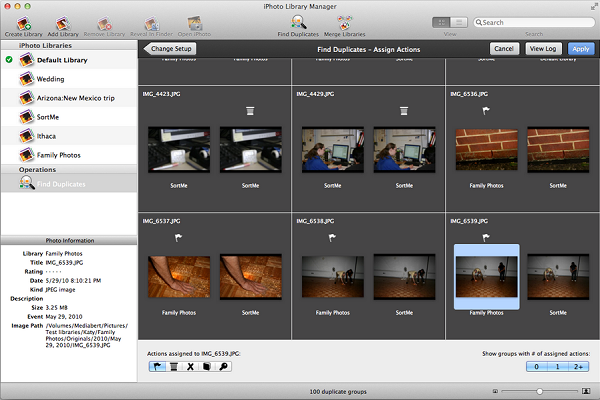iPhoto Library Manager (Screenshot taken from official site)