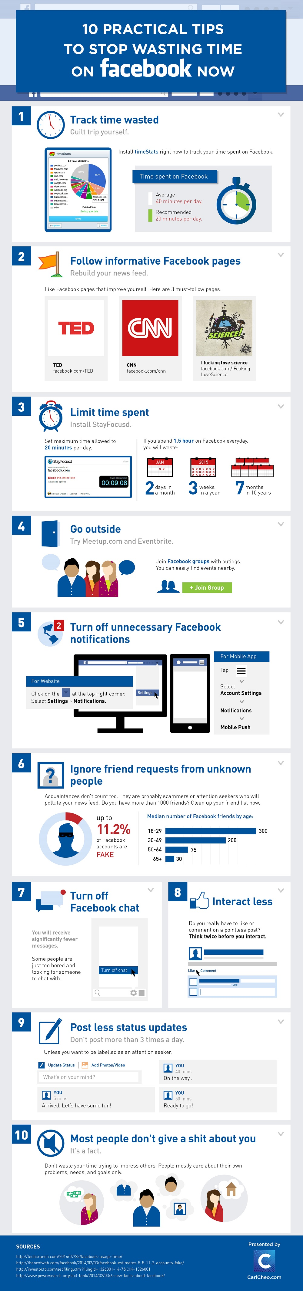10 Tips To Stop Wasting Time on Facebook