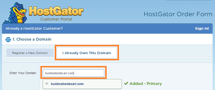 Sign up for a HostGator plan