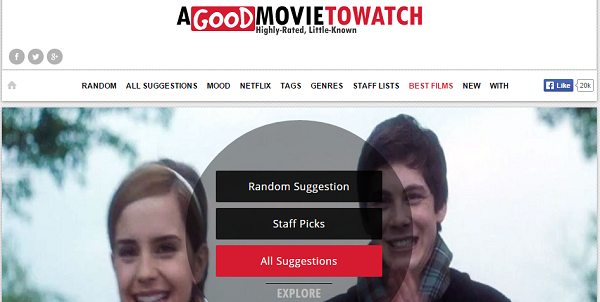 Not sure what movie to watch? AGoodMovieToWatch.com randomly suggest you highly-rated yet little known movies to watch.
