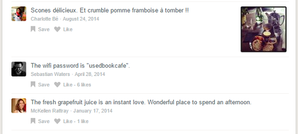 Get free Wi-Fi passwords for local places in Foursquare's comment sections.