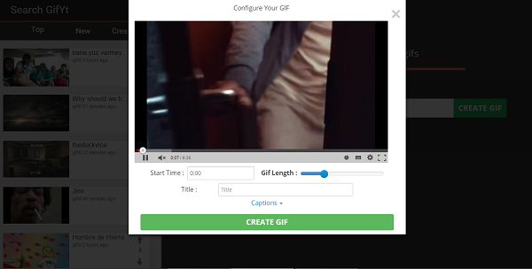 "Want to convert YouTube video to GIF? Add ""gif"" after ""www."". Here's an example."