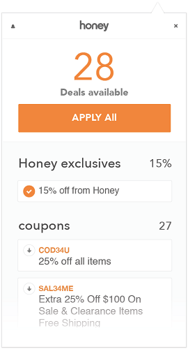 You can also try your luck with Honey, which automatically applies coupon codes at checkout.
