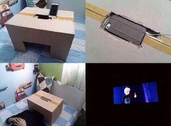 Build your own theater at home. To watch Frozen of course.